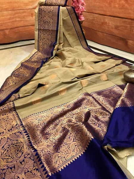 Awesome New Bollywood Designer  Kanchipuram Silk Saree KC6027