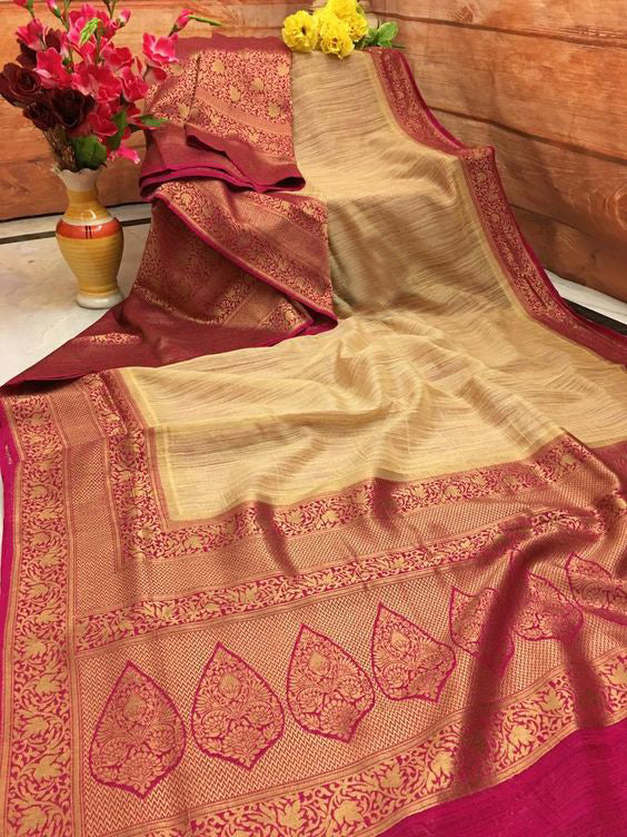 Leatest New Bollywood Designer  Kanchipuram Silk Saree KC6033