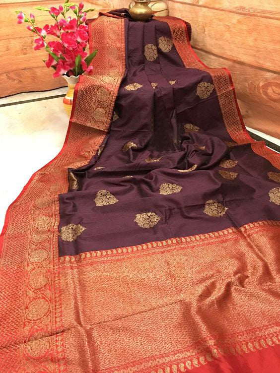 Awesome New Bollywood Designer  Kanchipuram Silk Saree KC6036