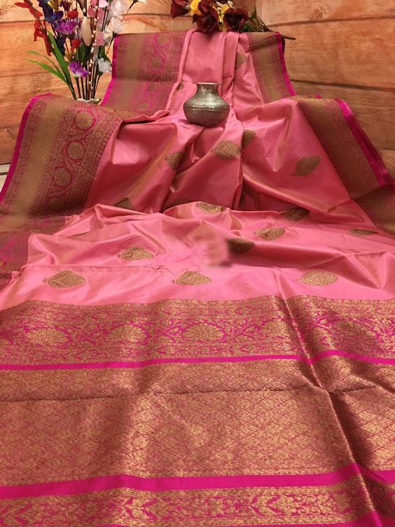 Awesome New Bollywood Designer  Kanchipuram Silk Saree KC6042