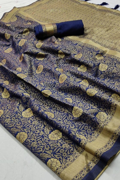 Amazing New Bollywood Designer  Kanchipuram Silk Saree KC6071