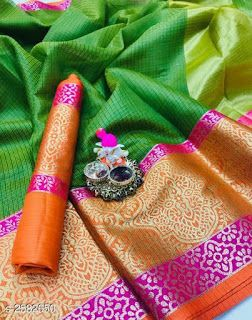 Awesome New Bollywood Designer  Kanchipuram Silk Saree KC6089