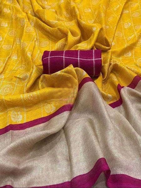 Awesome New Bollywood Designer  Kanchipuram Silk Saree KC6092