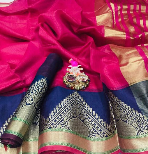 Awesome New Bollywood Designer  Kanchipuram Silk Saree KC6093