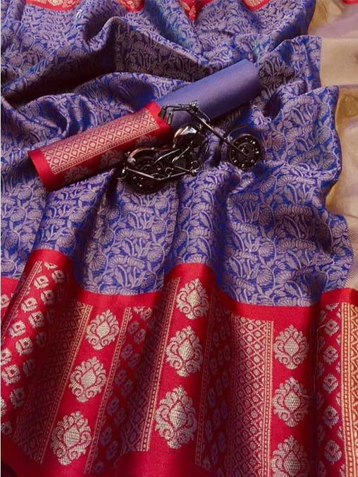 Awesome New Bollywood Designer  Kanchipuram Silk Saree KC6097