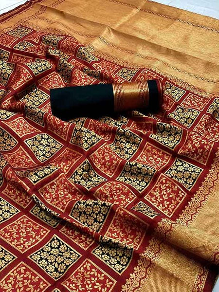 Awesome Latest Designer  Kanchipuram Silk Saree KC6104