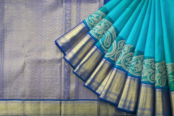 Awesome New Designer  Kanchipuram Silk Saree KC6128