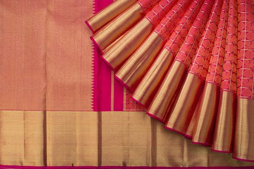 New Latest Collection of Designer  Kanchipuram Silk Saree KC6130