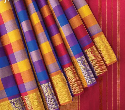 New Latest Collection of Designer  Kanchipuram Silk Saree KC6132
