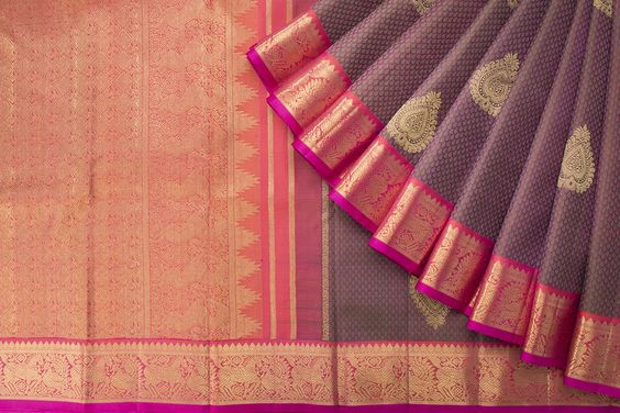 New Latest Collection of Designer  Kanchipuram Silk Saree KC6135