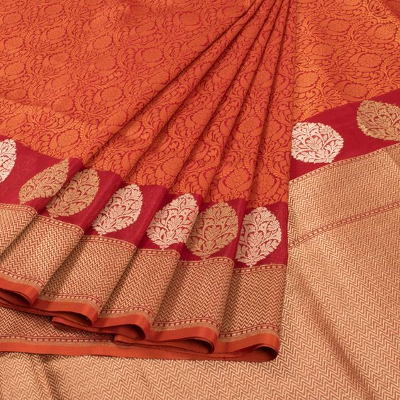 New Latest Collection of Designer  Kanchipuram Silk Saree KC6146