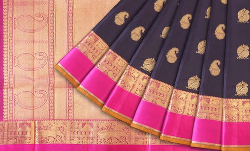 New Latest Collection of Designer  Kanchipuram Silk Saree KC6150