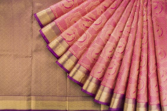 New Latest Collection of Designer  Kanchipuram Silk Saree KC6152