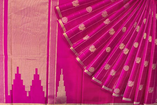 New Latest Collection of Designer  Kanchipuram Silk Saree KC6154