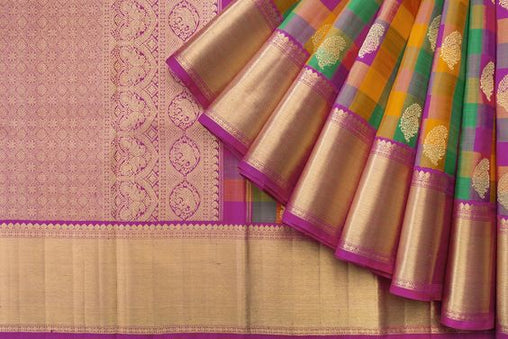 New Latest Collection of Designer  Kanchipuram Silk Saree KC6156