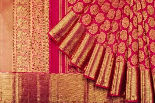 New Latest Collection of Designer  Kanchipuram Silk Saree KC6157