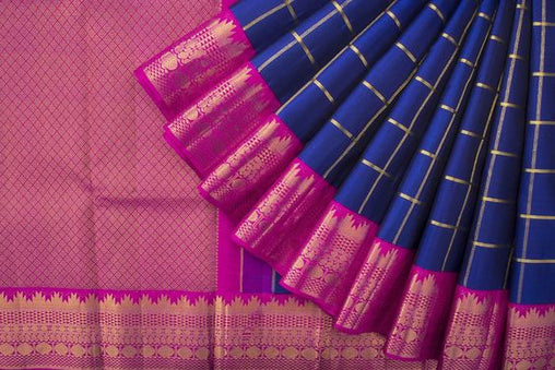 New Latest Collection of Designer  Kanchipuram Silk Saree KC6163