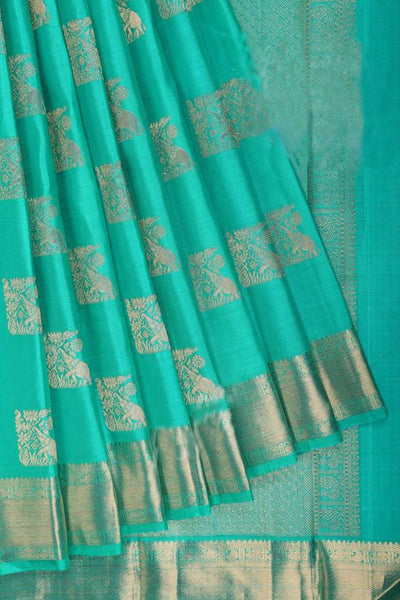 New Latest Collection of Designer  Kanchipuram Silk Saree KC6167