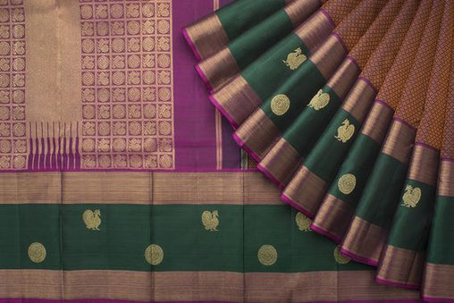 New Latest Collection of Designer  Kanchipuram Silk Saree KC6170