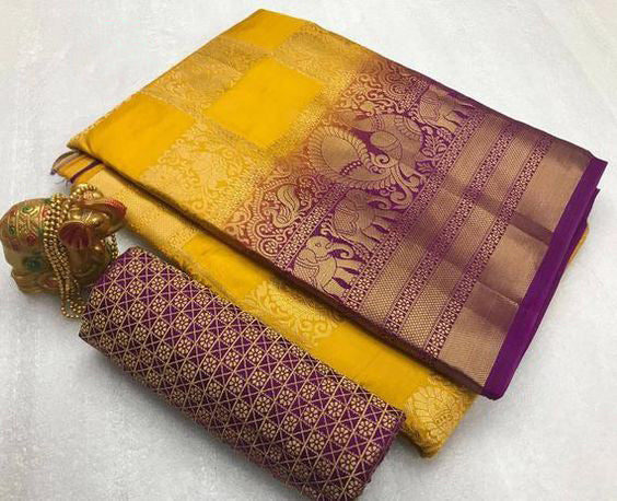 Awesome Bollywood Designer Kanjivarm Silk Saree KJ5068