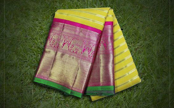 Awesome Bollywood Designer Kanjivarm Silk Saree KJ5080
