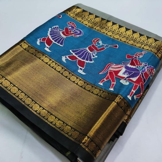 Awesome Bollywood Designer Kanjivarm Silk Saree KJ5177