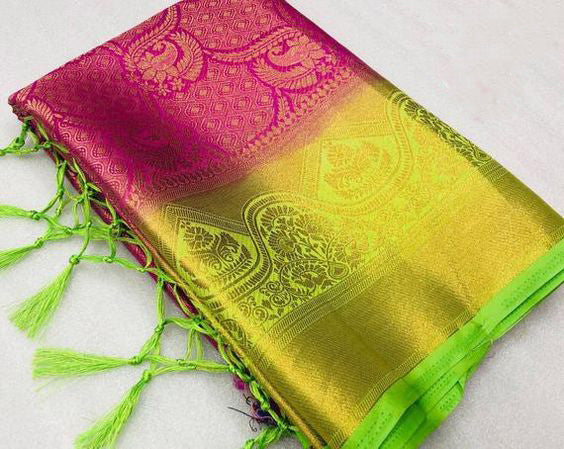 Awesome Bollywood Designer Kanjivarm Silk Saree KJ5184