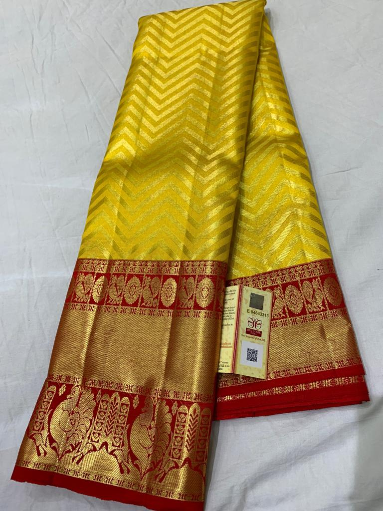 Awesome Bollywood Designer Kanjivarm Silk Saree KJ5352