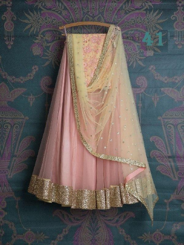 New Exclusive Pink Color Embroidery Lehenga Choli MDL1032