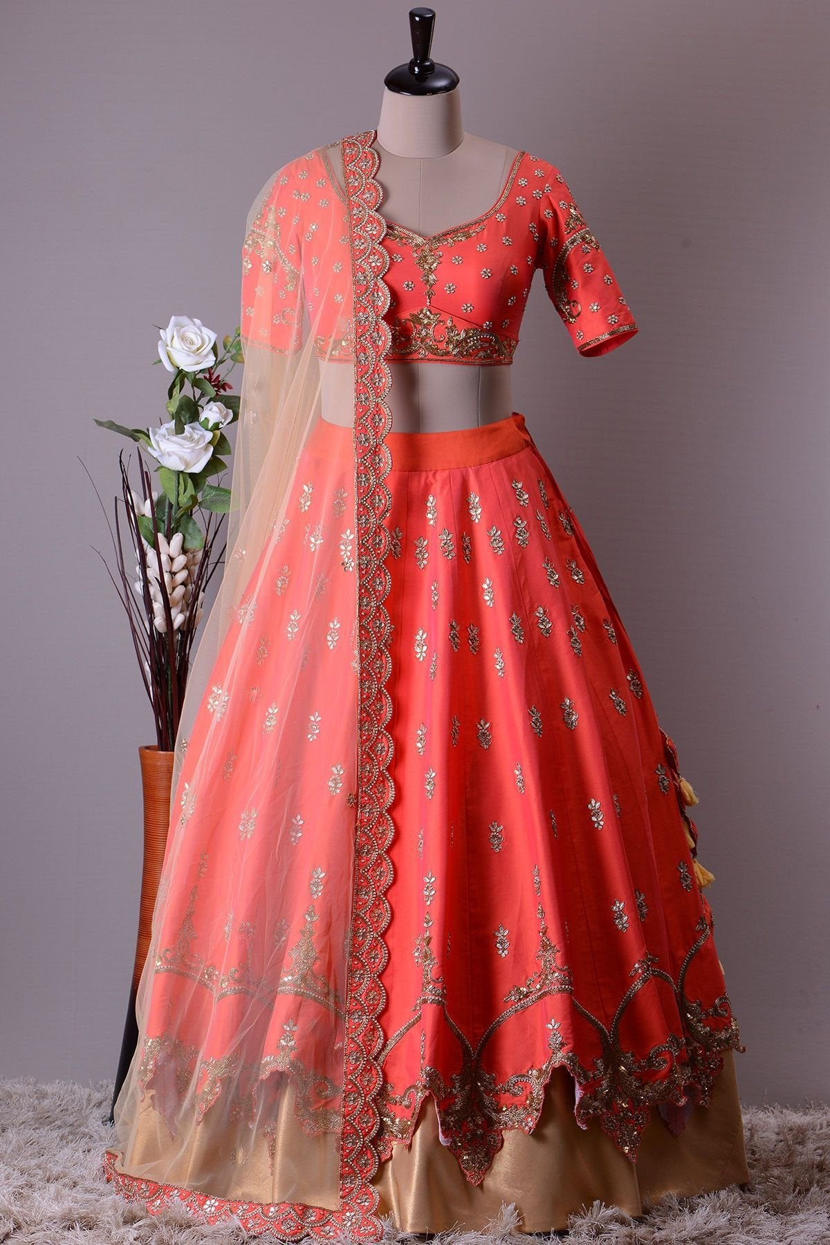 NEW DESIGNER WEDDING WEAR LEHENGA CHOLI MDL1121