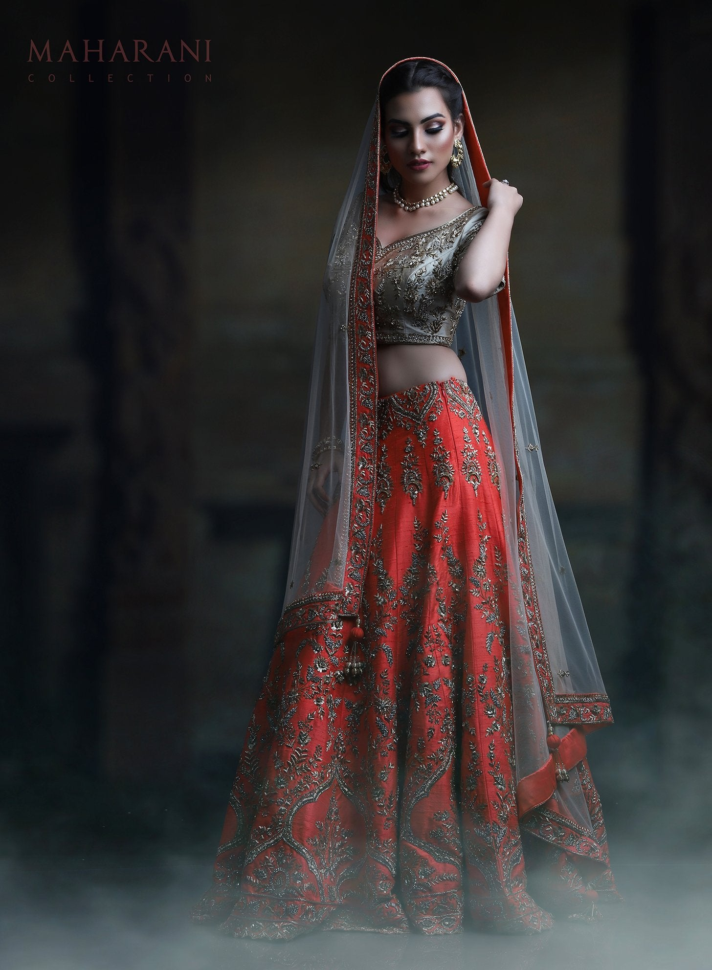 HEAVY EXCLUSIVE WEDDING WEAR LEHENGA CHOLI MDL1162