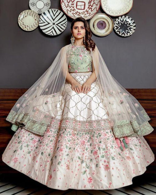 Embroidered Semi-stitched Lehenga Choli for Party wear MDL1185
