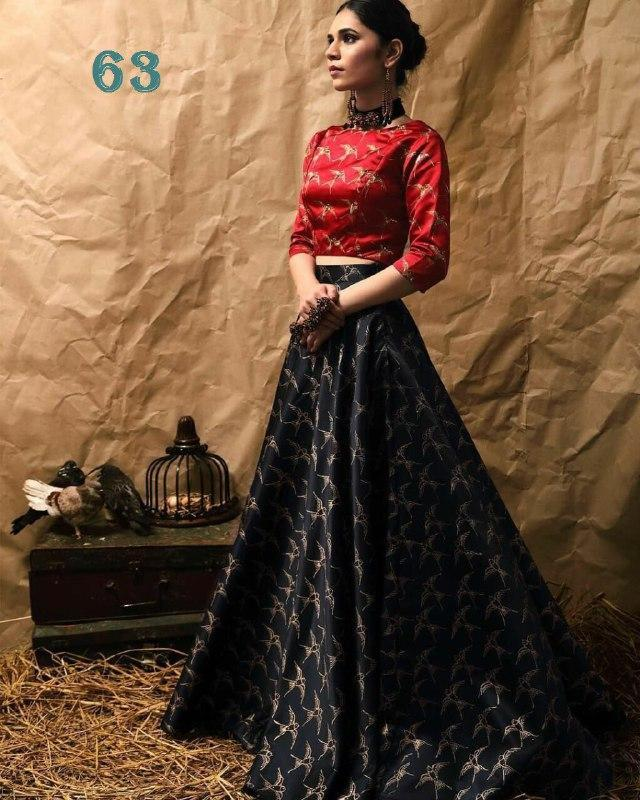 Fancy Exclusive Black Color Embroidery Work Lehenga choli MDL1223