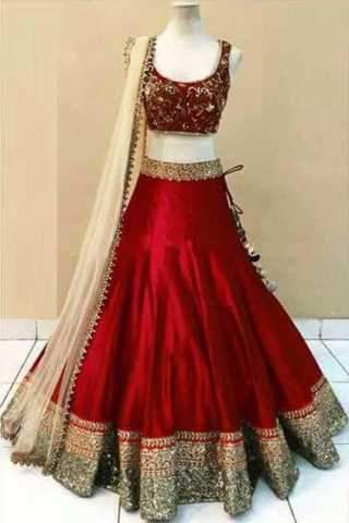 Embroidered Semi-stitched Party Wear Lehenga Choli  1300