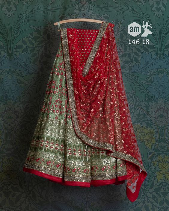 New Designer Embroidered Net Lehenga Choli MDL1414
