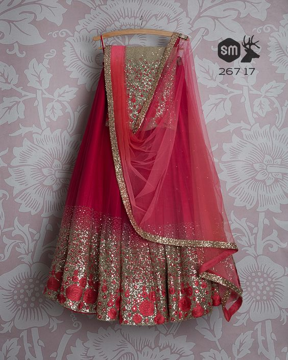 Party Wear Embroidered Net Lehenga Choli MDL1428