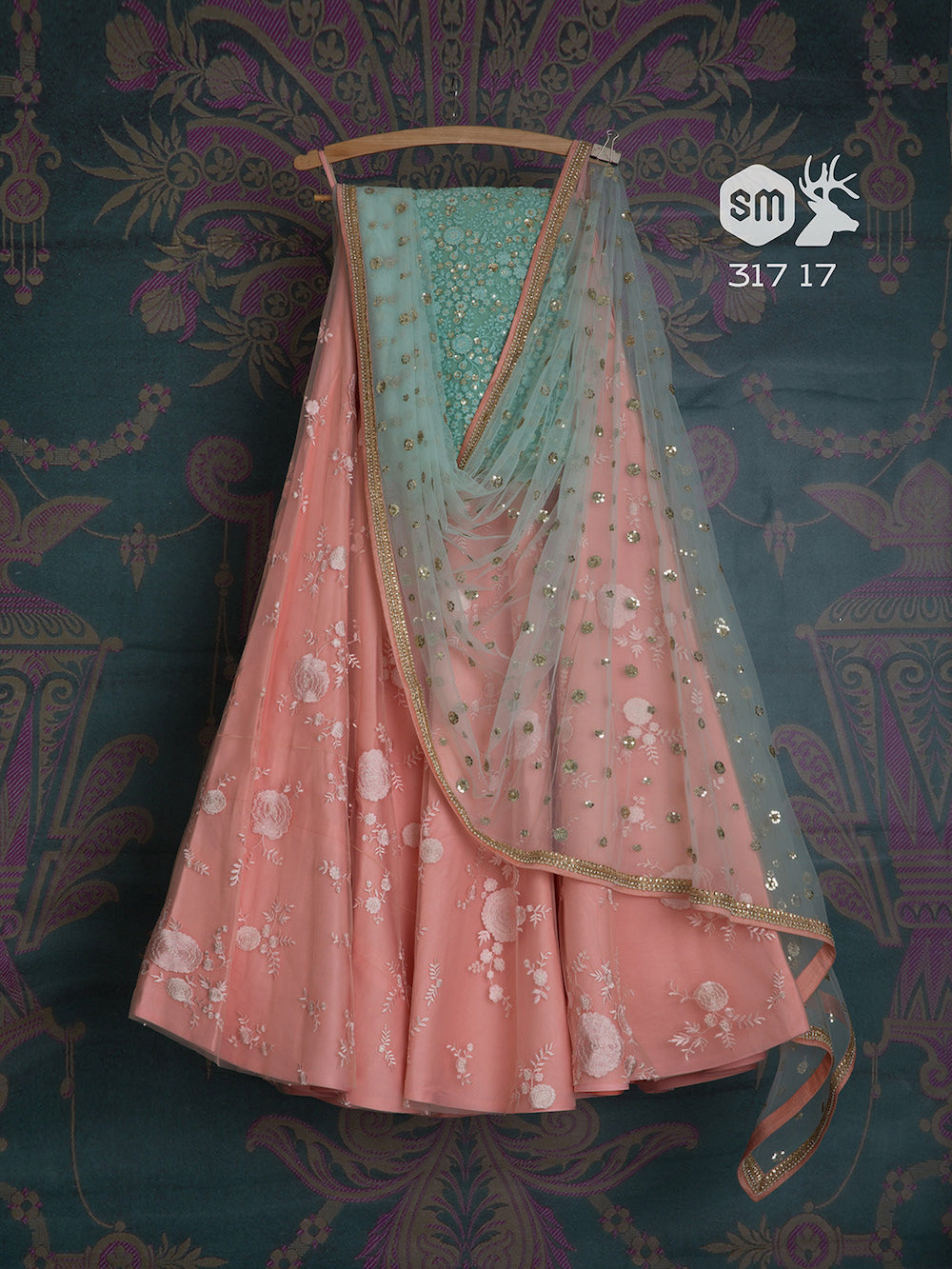 Forever Pink Party Wear Embroidered Net Lehenga Choli MDL1445