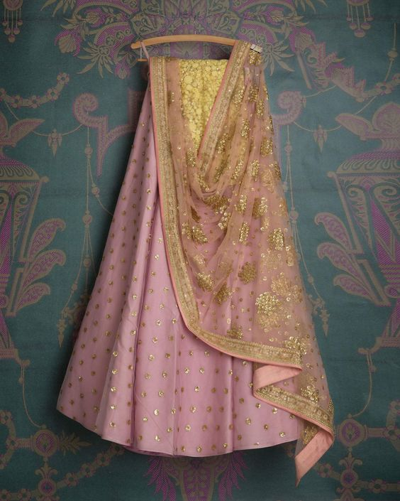 Baby Pink Color Embroidered Net Lehenga Choli MDL1456