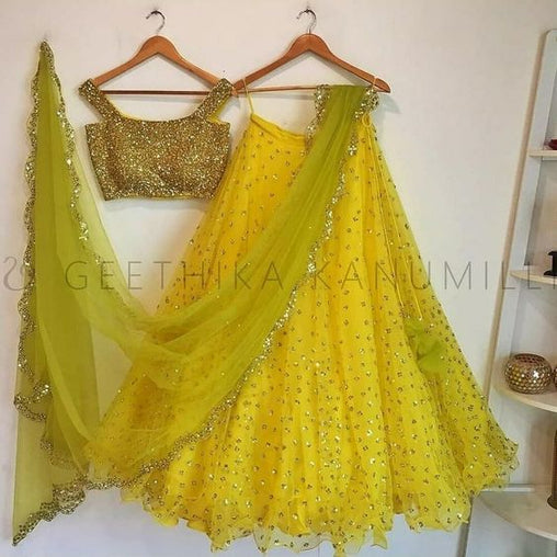 New Designer Party Wear Net With Embroidery Lehenga Choli MDL1482