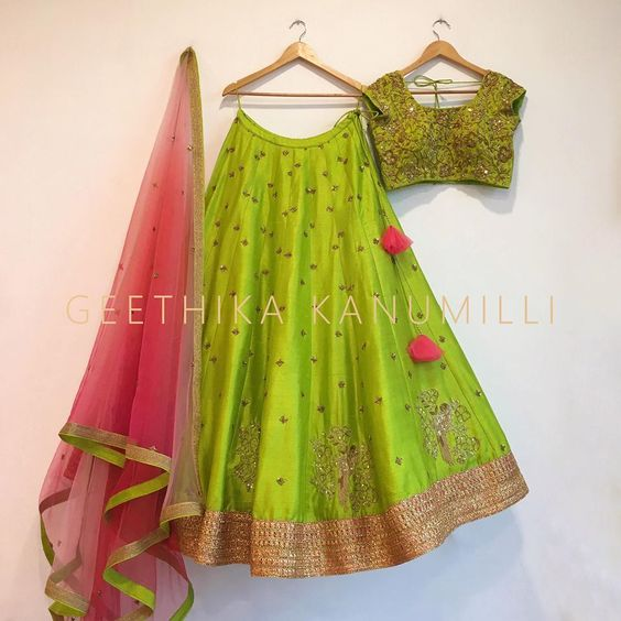 New Collection of Designer Party Tafeta Silk Embroidery Work Lehenga Choli MDL1518