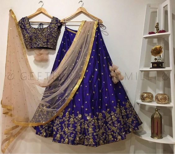 New Collection of Designer Party Wear Mulberry Silk Lehenga Choli MDL1530