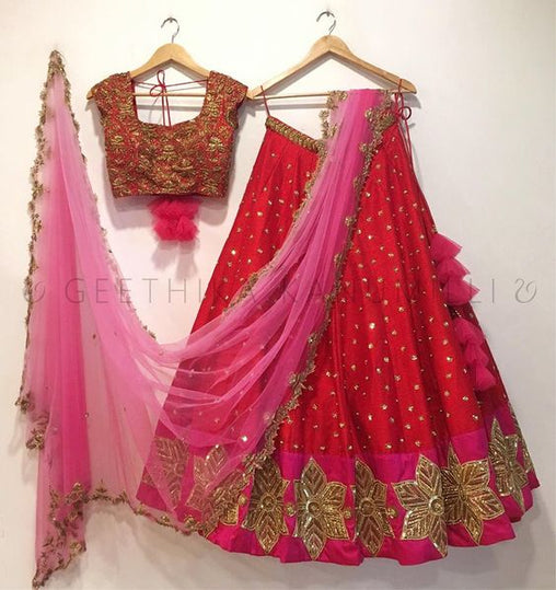 New Collection of Designer Party Wear Tafeta Silk With Embroidery Lehenga Choli MDL1536