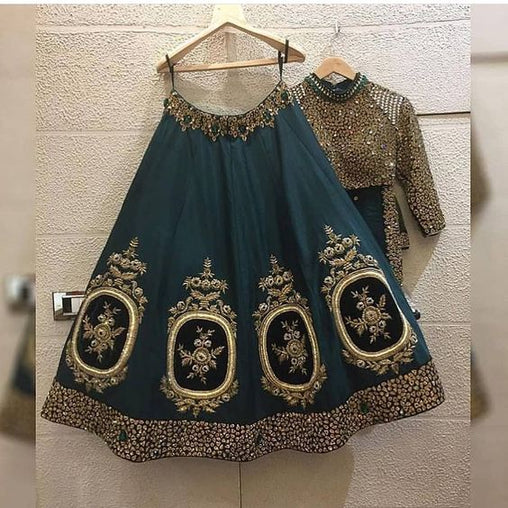 Wonderfull Collection Of Designer Party Wear Taffeta Silk With Embroidery  Lehenga Choli  MDL1568