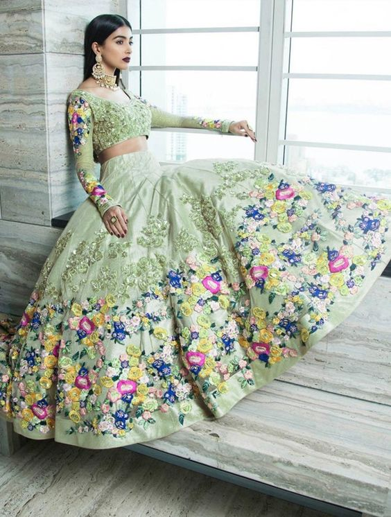 New Collection Of Designer Party Wear Taffeta Silk  With Embroidery Work  Lehenga Choli  MDL1603