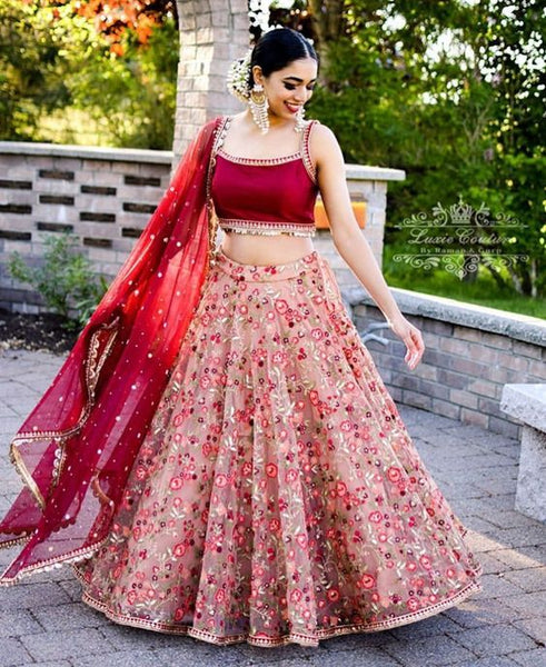 Awesome Collection Of Designer Party Wear Net With Embroidery Work Lehenga Choli  MDL1625