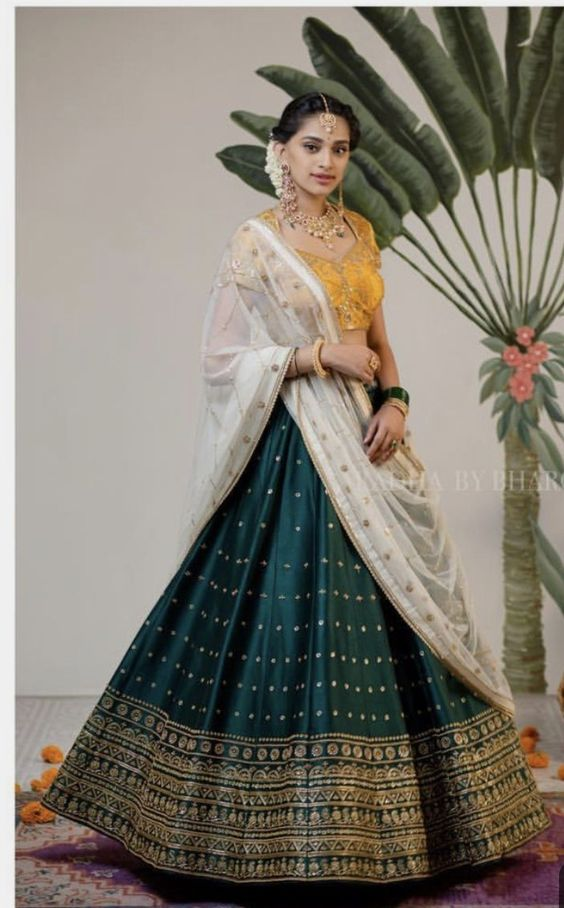 New Collection Of Designer Party Wear Taffeta Silk With Embroidery Work Lehenga Choli  MDL1628