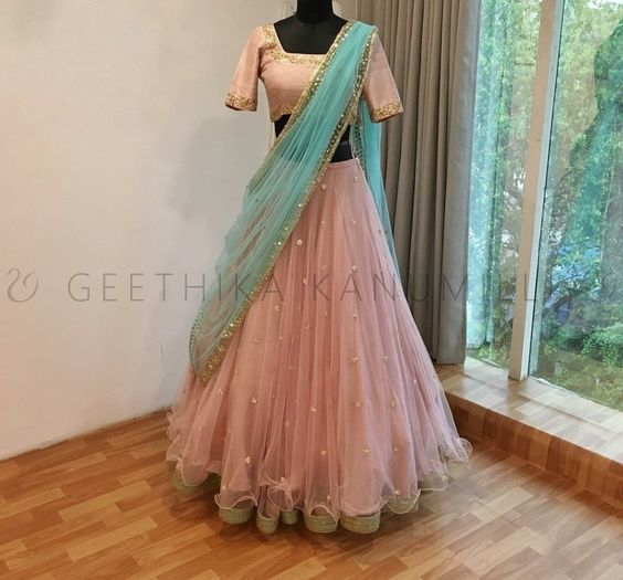New Designer Party Wear Net  With Embroidery Work  Lehenga Choli  MDL1667