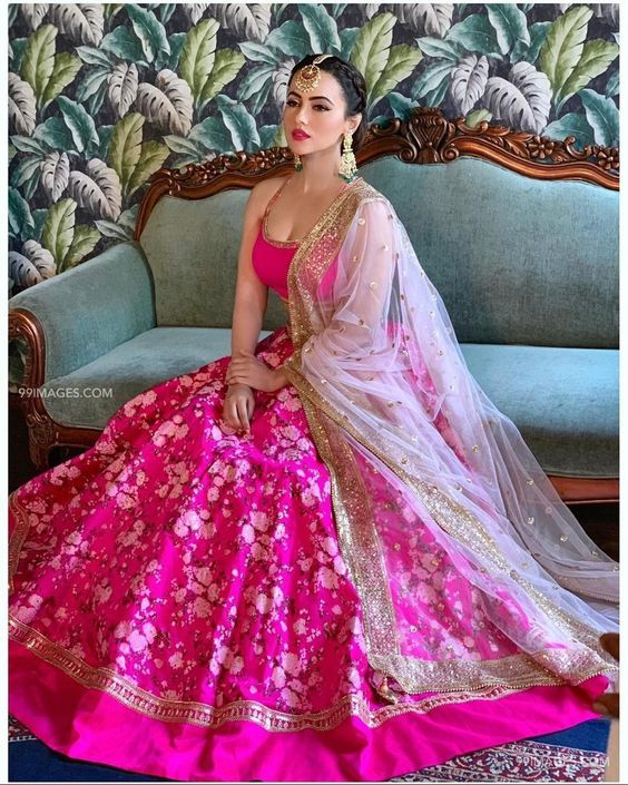Pink Color Designer Party Wear Taffeta Silk  With Embroidery Work  Lehenga Choli  MDL1669
