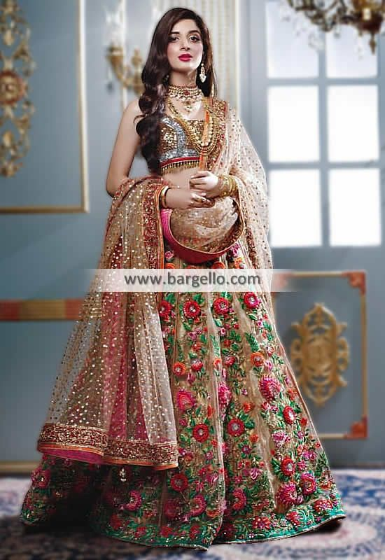 New Designer Party Wear Net With Embroidery Work  Lehenga Choli  MDL1675