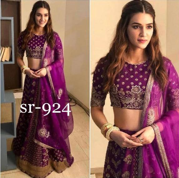 Awesome Designer Party Wear Taffeta Silk With Embroidery Work  Lehenga Choli  MDL1678